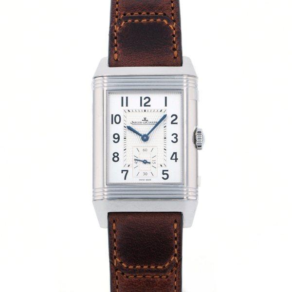 ジャガー・ルクルト JAEGER LE COULTRE レベルソ クラシック・ラージ・デュオ・スモールセコンド Q3848422 シルバー文字盤 メンズ 腕時計 【新品】