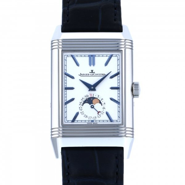 ジャガー ルクルト JAEGER LE COULTRE レベルソ トリビュート 新品 定番から日本未入荷 Q3958420 ムーン 爆買い送料無料 腕時計 メンズ シルバー文字盤