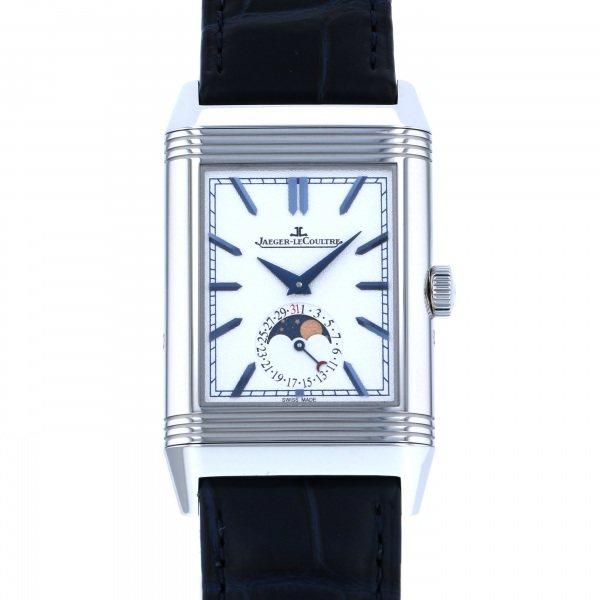 ジャガー ルクルト JAEGER 爆買いセール LE COULTRE レベルソ トリビュート 腕時計 ムーン Q3958420 メンズ 新品 シルバー文字盤 オンラインショップ