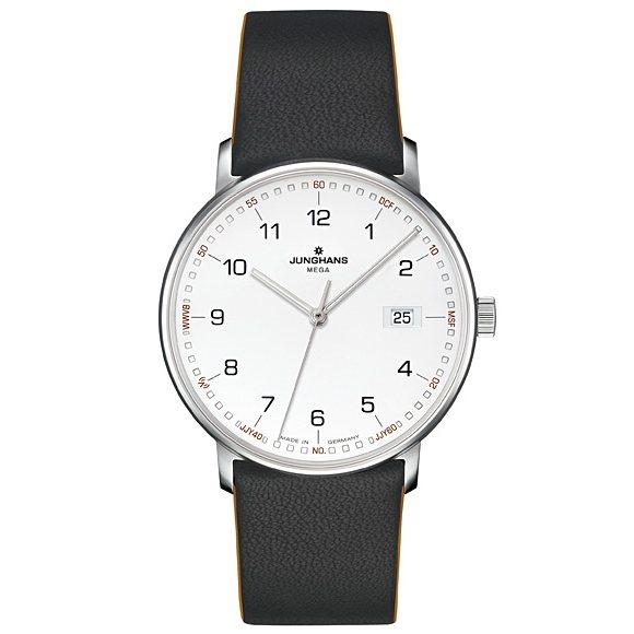 【ポイントバックセール 3%ポイント還元】 ユンハンス JUNGHANS フォーム メガ 058 4931 00 ホワイト文字盤 メンズ 腕時計 【新品】