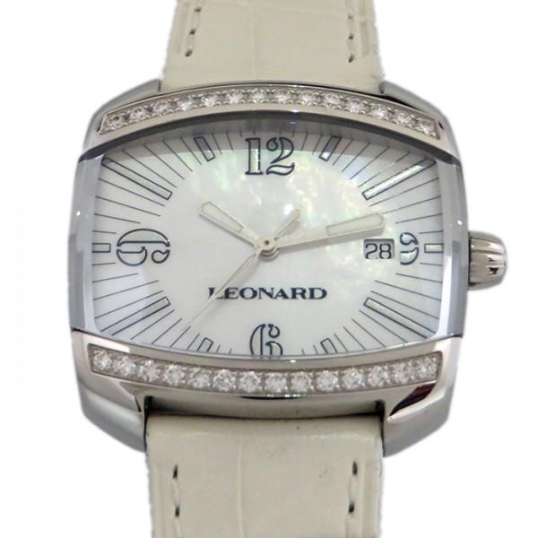 レオナール LEONARD その他 カーヴ ベゼルダイヤ CU6Q100 ホワイト文字盤 レディース 腕時計 【新品】