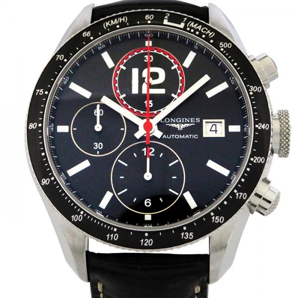 ロンジン LONGINES その他 グランヴィテス L3.636.4 ブラック文字盤 メンズ 腕時計 【新品】