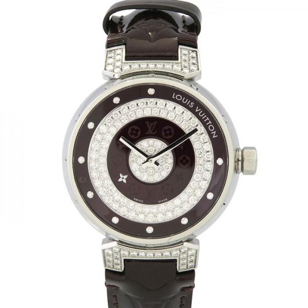 【期間限定ポイント5倍 5/5~5/31】 ルイ・ヴィトン LOUIS VUITTON その他 タンブール アマラント ラグダイヤ Q131U アマラント文字盤 レディース 腕時計 【中古】