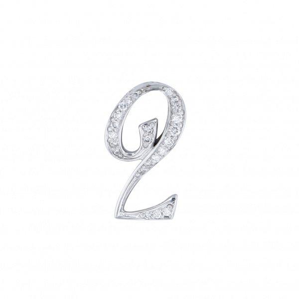 ノンブル NOMBRE ノンブル ナンバーペンダントトップ【2】Sサイズ【正規品】 NWG-S2 メンズ ジュエリー 【新品】