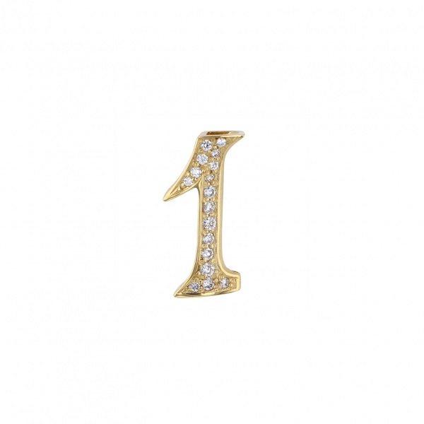 ノンブル NOMBRE ノンブル ナンバーペンダントトップ【1】Sサイズ【正規品】 Y.NOMBRE.12.6.1.S メンズ ジュエリー 【新品】
