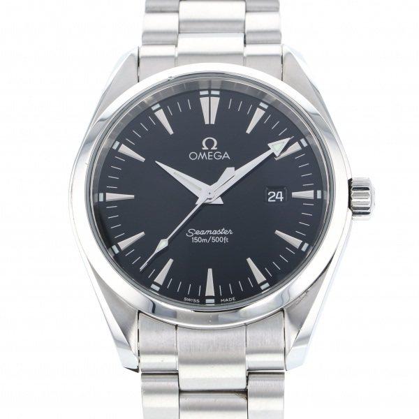 【全品 ポイント10倍 4/9~4/16】オメガ OMEGA シーマスター アクアテラ 2517.50 ブラック文字盤 メンズ 腕時計 【中古】