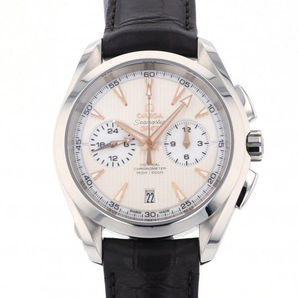 オメガ OMEGA シーマスター アクアテラ クロノグラフ GMT 231.13.43.52.02.001 シルバー文字盤 メンズ 腕時計 【新品】