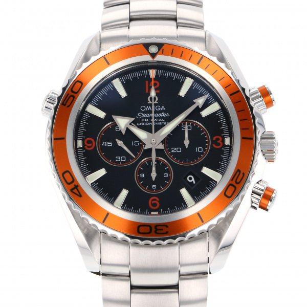 【期間限定ポイント5倍 5/5~5/31】 オメガ OMEGA シーマスター プラネットオーシャン 2218.50 ブラック文字盤 メンズ 腕時計 【中古】