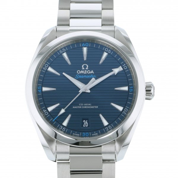 オメガ OMEGA シーマスター アクアテラ 150M コーアクシャル マスタークロノメーター 220.10.41.21.03.001 ブルー文字盤 メンズ 腕時計 【中古】