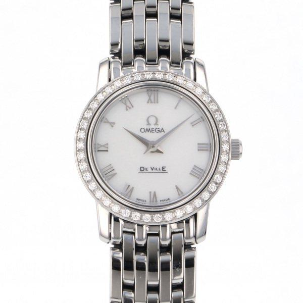オメガ OMEGA デ・ヴィル プレステージ 4575.71 ホワイト文字盤 レディース 腕時計 【中古】