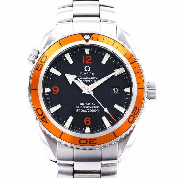 【期間限定ポイント5倍 5/5~5/31】 オメガ OMEGA シーマスター 600 プラネットオーシャン 2208.50 ブラック文字盤 メンズ 腕時計 【中古】