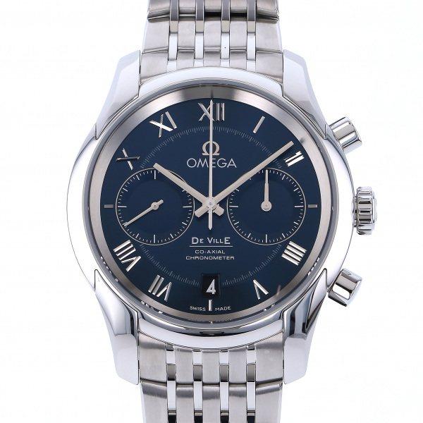オメガ OMEGA デ・ヴィル コーアクシャル クロノグラフ 431.10.42.51.03.001 ブルー文字盤 メンズ 腕時計 【新品】