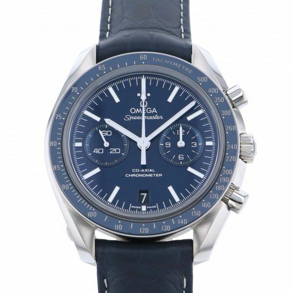 オメガ OMEGA スピードマスター ムーンウォッチ 311.93.44.51.03.001 ブルー文字盤 メンズ 腕時計 【新品】