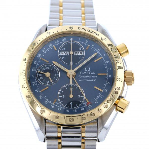 オメガ OMEGA スピードマスター トリプルカレンダー 3221.80 ネイビー文字盤 メンズ 腕時計 【中古】
