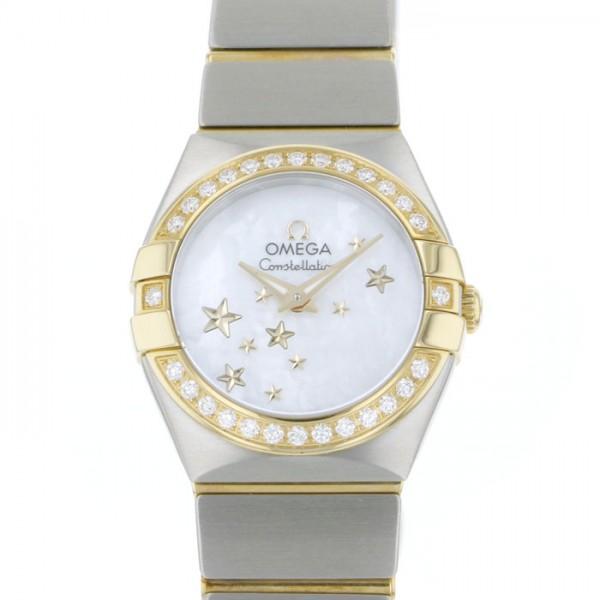 オメガ OMEGA コンステレーション ブラッシュ クォーツ 123.25.24.60.05.001 ホワイト文字盤 レディース 腕時計 【新品】