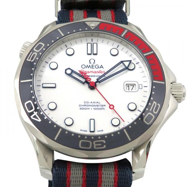 オメガ OMEGA シーマスター ダイバー300 コーアクシャルコマンダー 世界限定7007本 212.32.41.20.04.001 ホワイト文字盤 メンズ 腕時計 【新品】