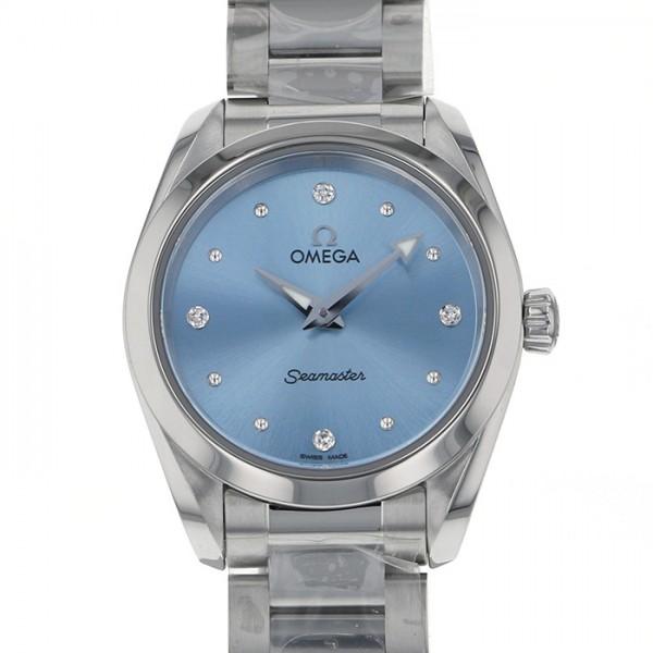 オメガ OMEGA シーマスター アクアテラ 220.10.28.60.53.001 ブルー文字盤 レディース 腕時計 【新品】
