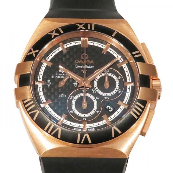 オメガ OMEGA コンステレーション ダブルイーグル クロノグラフ 121.62.41.50.01.001 ブラック文字盤 メンズ 腕時計 【新古品】