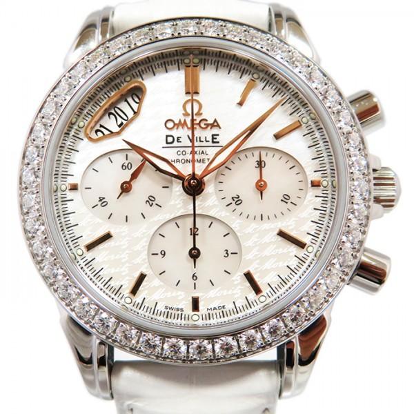 オメガ OMEGA デ・ヴィル コーアクシャル クロノスコープ 422.18.35.50.05.001 ホワイト文字盤 レディース 腕時計 【新品】