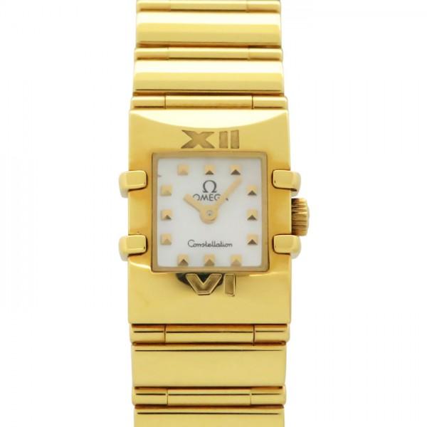 腕時計 OMEGA 1131.71 オメガ 【中古】 ホワイト文字盤 ミニ クアドラ コンステレーション レディース