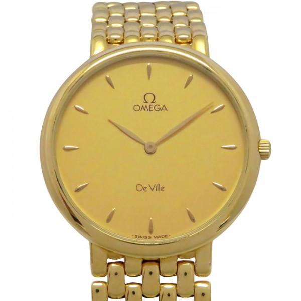 オメガ OMEGA デ・ヴィル ゴールド文字盤 メンズ 腕時計 【中古】