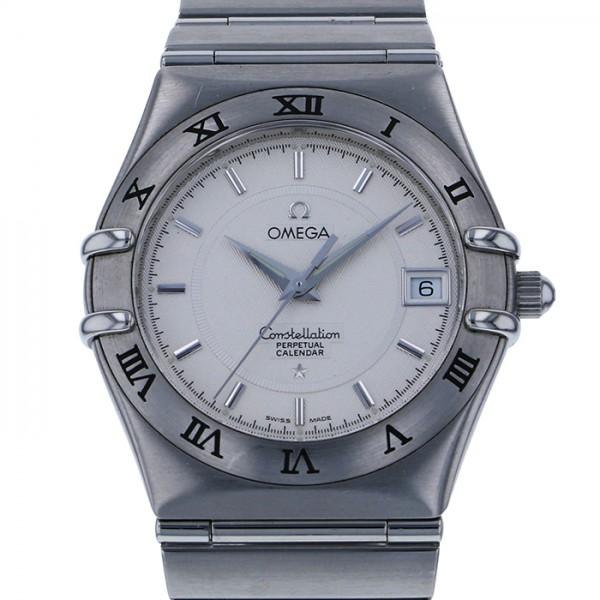 オメガ OMEGA コンステレーション パーペチュアルカレンダー 1552.30.00 シルバー文字盤 メンズ 腕時計 【中古】
