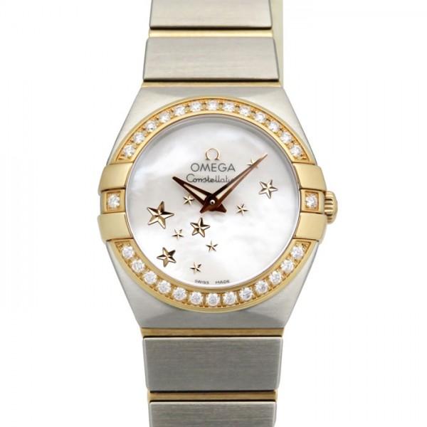 オメガ OMEGA コンステレーション ブラッシュ クォーツ 123.25.24.60.05.002 ホワイト文字盤 レディース 腕時計 【新品】