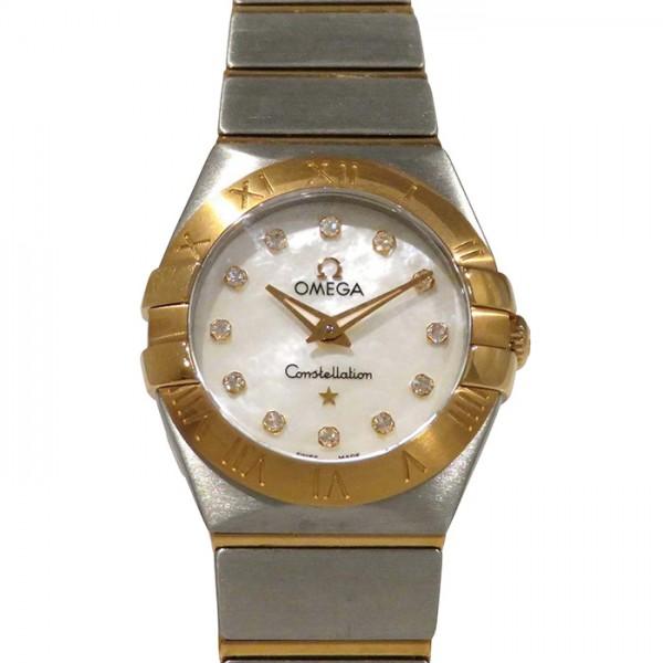 オメガ OMEGA コンステレーション 123.20.24.60.55.001 ホワイトシェル/ダイヤ文字盤 レディース 腕時計 【新品】