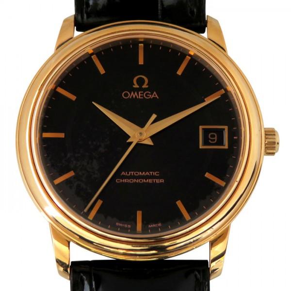 オメガ OMEGA デ・ヴィル プレステージ 4601.54.11 ブラック文字盤 メンズ 腕時計 【中古】