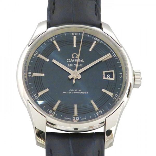 オメガ OMEGA デ・ヴィル アワービジョン コーアクシャル マスタークロノメーター 433.33.41.21.03.001 ブルー文字盤 メンズ 腕時計 【新品】