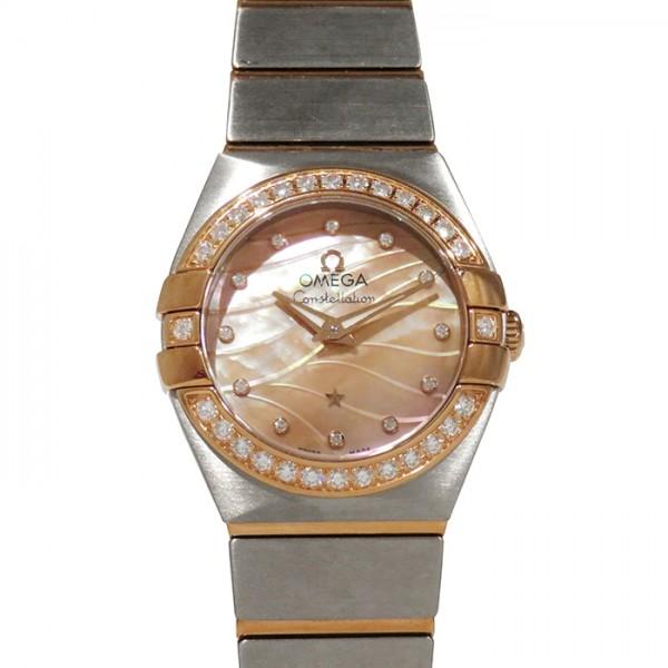 オメガ OMEGA コンステレーション ベゼルダイヤ 123.25.24.60.57.002 ピンク文字盤 レディース 腕時計 【新品】