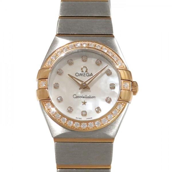 オメガ OMEGA コンステレーション ブラッシュクォーツ ベゼルダイヤ 123.25.24.60.55.001 ホワイト文字盤 レディース 腕時計 【新品】