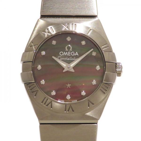 オメガ OMEGA コンステレーション ブラッシュ タヒチ 123.10.24.60.57.003 ブラック文字盤 レディース 腕時計 【新品】