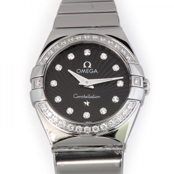 オメガ OMEGA コンステレーション ポリッシュクォーツ 123.10.24.60.51.002 ブラック文字盤 レディース 腕時計 【新品】