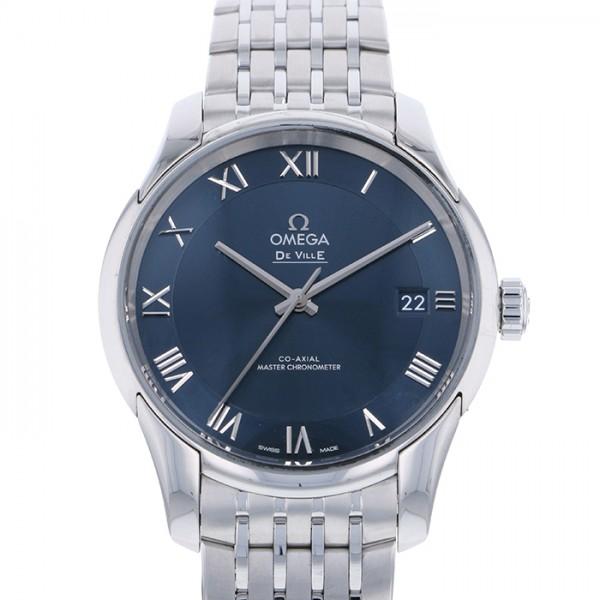 オメガ OMEGA デ・ヴィル アワービジョン コーアクシャル マスタークロノメーター 433.10.41.21.03.001 ブルー文字盤 メンズ 腕時計 【中古】