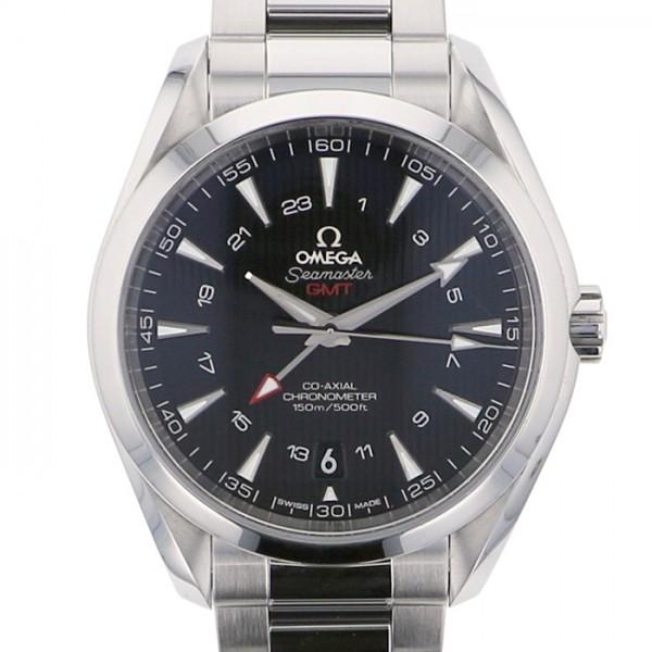 オメガ OMEGA シーマスター アクアテラ GMT 231.10.43.22.01.001 ブラック文字盤 メンズ 腕時計 【中古】