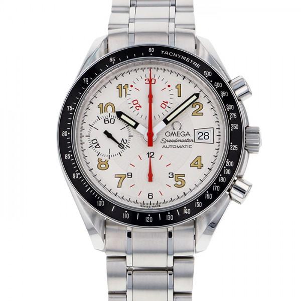 メンズ OMEGA スピードマスター 3513.33 マーク40 【中古】 腕時計 オメガ オートマチックデイト ホワイト文字盤