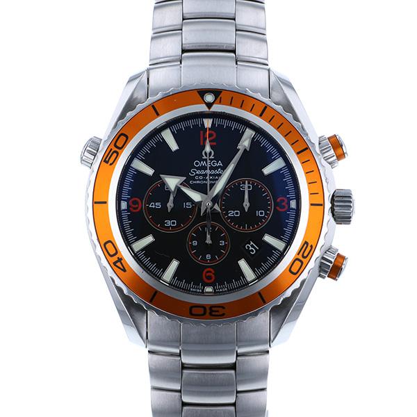 オメガ OMEGA シーマスター プラネットオーシャン 2218.50.00 ブラック文字盤 メンズ 腕時計 【中古】