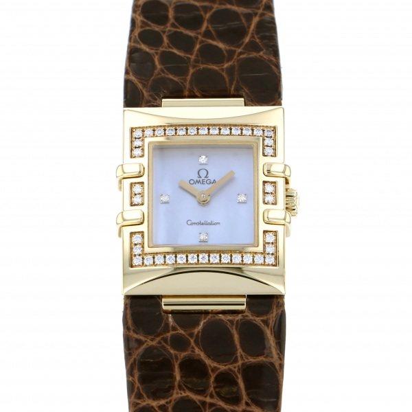 オメガ OMEGA コンステレーション 1635.78.12 ブルー文字盤 レディース 腕時計 【中古】