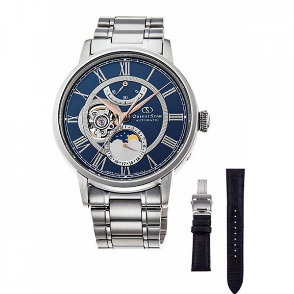 【期間限定ポイント5倍 5/5~5/31】 オリエントスター ORIENT STAR その他 MECHANICAL MOON PHASE RK-AM0011L ブルー文字盤 メンズ 腕時計 【新品】