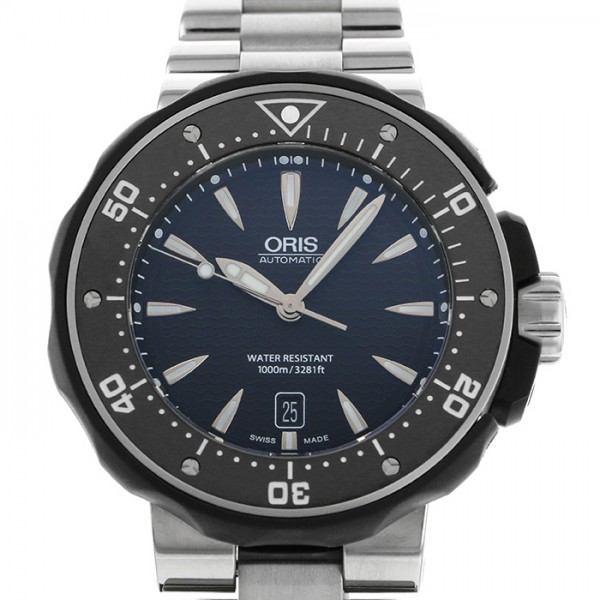 733 ORIS ダイバーズ 【新品】 腕時計 ブラック文字盤 メンズ 7154M デイト 7646 オリス プロダイバー