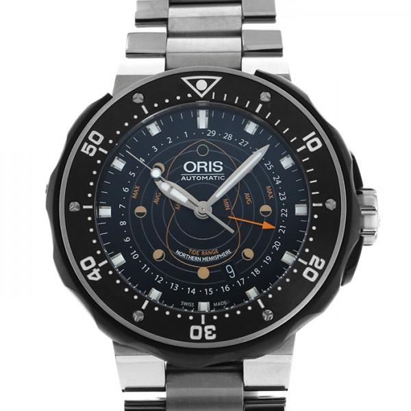 オリス ORIS ダイバーズ ポインタームーン 761 7682 7154 ブラック文字盤 メンズ 腕時計 【新品】