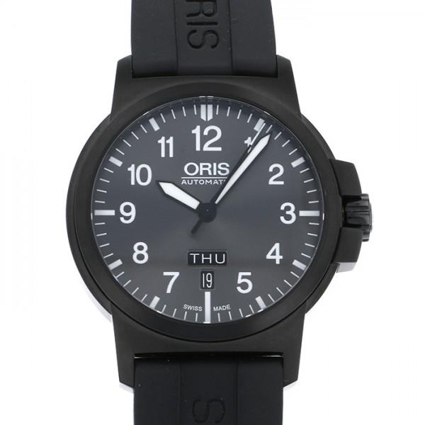オリス ORIS その他 BC3 アドバンスド デイデイト 735 7641 4733R ブラック文字盤 メンズ 腕時計 【中古】