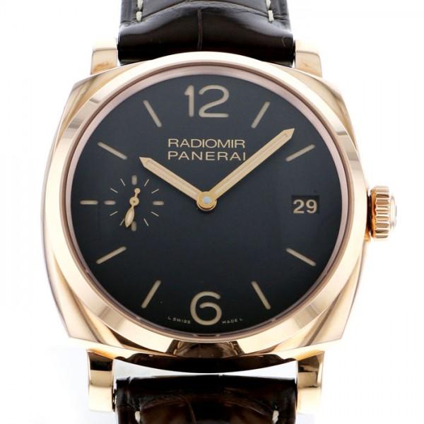 パネライ PANERAI ラジオミール 1940 3デイズ オロロッソ PAM00515 ブラック文字盤 メンズ 腕時計 【新品】