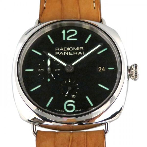 パネライ PANERAI ラジオミール 10デイズ GMT PAM00323 ブラック文字盤 メンズ 腕時計 【新品】