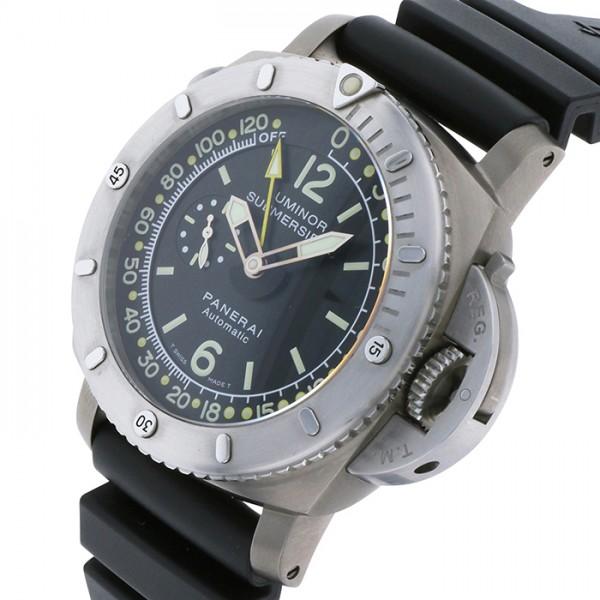 パネライ PANERAI ルミノール1950 サブマーシブル デプスゲージ 世界限定600本 PAM00193 ブラック文字盤 メンズ 腕時計 【中古】