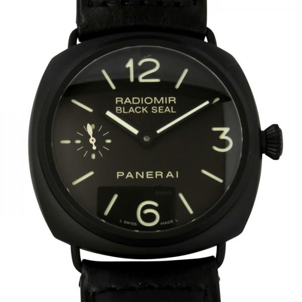 パネライ PANERAI ラジオミール ブラックシール チェラミカ PAM00292 ブラック文字盤 メンズ 腕時計 【中古】