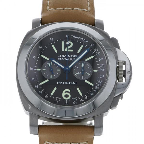 パネライ PANERAI ルミノール クロノグラフ タンタリウム 世界限定300本 PAM00192 ブラック/グレー文字盤 メンズ 腕時計 【中古】