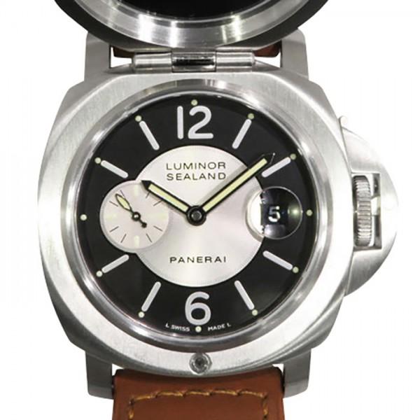 パネライ PANERAI ルミノール シーランド フォー パーディー 世界限定33本 PAM00816 シルバー/ブラック文字盤 メンズ 腕時計 【中古】