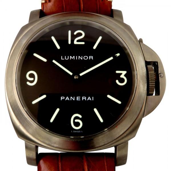 パネライ PANERAI ルミノール ベース PAM00055 ブラウン文字盤 メンズ 腕時計 【中古】